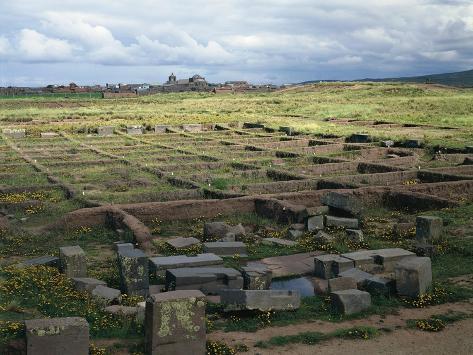 Bolivia, Ingavi Province, La Paz Department, Tiwanaku, Palacio De Los Sarcofagos Giclée-Druck