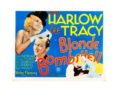 Bombshell, (AKA Blonde Bombshell), from Left: Jean Harlow, Lee Tracy, 1933 Giclée-Druck