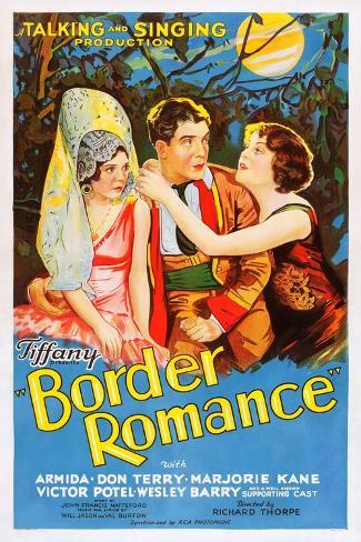 Border Romance Kunstdruck
