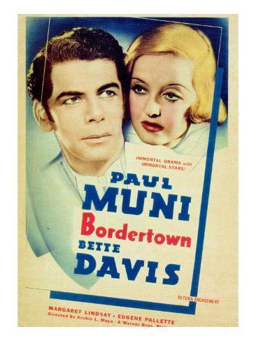 Bordertown, Paul Muni, Bette Davis, 1935 Foto