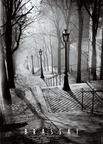 Die Treppen von Montmartre, Paris Kunstdruck