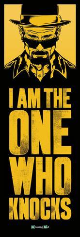 Breaking Bad - I Am The One Who Knocks Door Poster Türposter