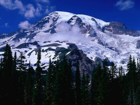 Mt. Rainier from Reflection Lake, Mt. Rainier National Park, USA Fotografie-Druck