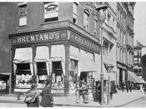 Brentano's Book Store on the Corner of Union Square and 16th Street, New York Fotografie-Druck