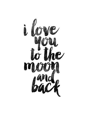 i love you to the moon and back posters van brett wilson bij. Black Bedroom Furniture Sets. Home Design Ideas