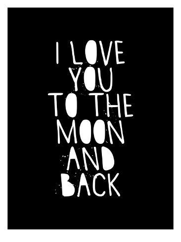 I Love You To The Moon And Back Schilderijen Van Brett Wilson Bij