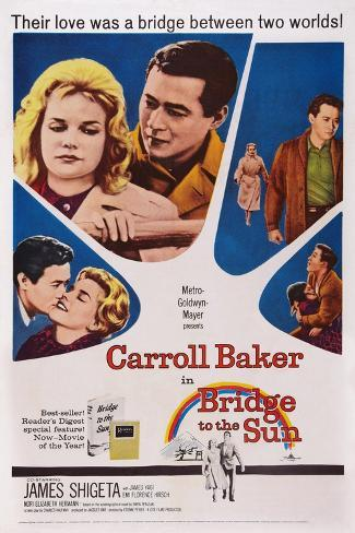 Bridge to the Sun, Carroll Baker, James Shigeta, 1961 Kunstdruck