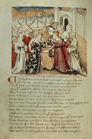 Brunhild Enters Worms, Kriemhild Hails Brunhild and Gunther Giclée-Druck