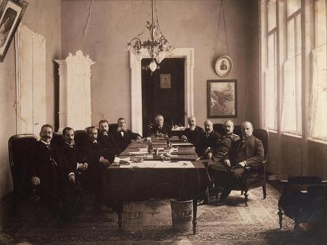 Bulgarian Government During First Balkan War, 1912, Bulgaria Giclée-Druck