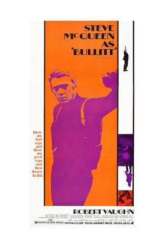 Bullitt, Steve McQueen, 1968 Kunstdruck