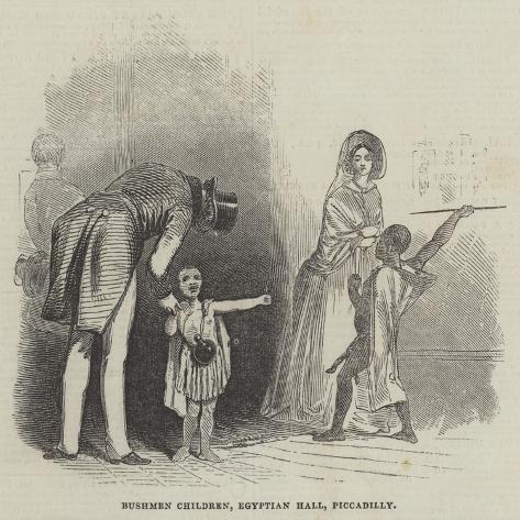 Bushmen Children, Egyptian Hall, Piccadilly Giclée-Druck