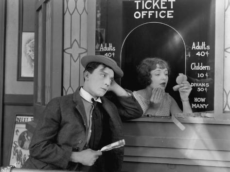 Buster Keaton: Sherlock, Jr., 1924 Fotografie-Druck