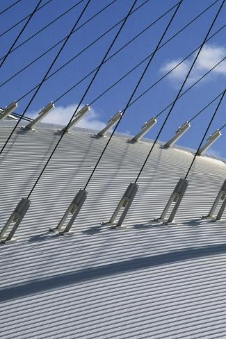 Cable-Stayed Supports, Velodrome, Oaka Olympic Sports Complex, Athens Giclée-Druck