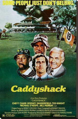 Caddyshack Movie Chevy Chase Bill Murray Group Vintage Poster Print Bedruckte aufgespannte Leinwand