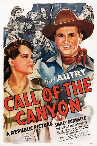 Call of the Canyon, Ruth Terry, Gene Autry, 1942 Kunstdruck