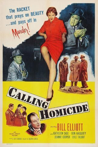 Calling Homicide, Top Left: Don Haggerty; Top Center: Kathleen Case; Bottom: Bill Elliott, 1956 Kunstdruck