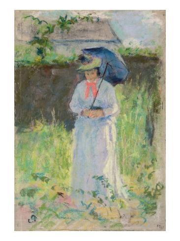Der Spaziergang Frau Mit Sonnenschirm Giclee Druck Von Camille