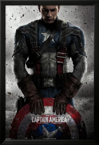 Captain America Laminiertes gerahmtes Poster