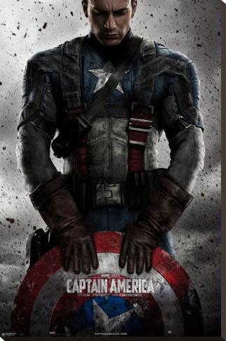 Captain America Bedruckte aufgespannte Leinwand