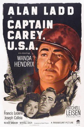 Captain Carey, U.S.A., Wanda Hendrix, Alan Ladd, 1950 Kunstdruck