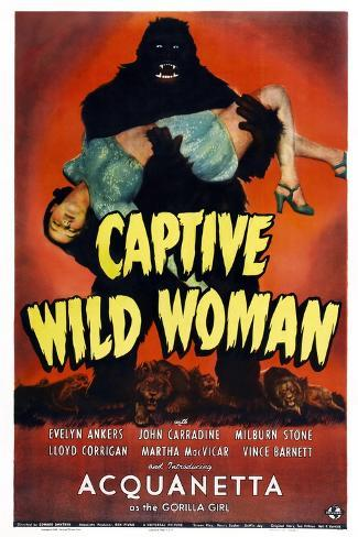 Captive Wild Woman Kunstdruck