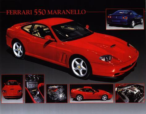 Car Ferrari 550 Maranello Poster