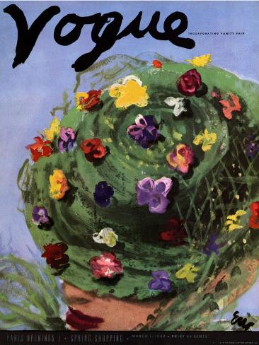 Vogue Cover - March 1939 Giclée-Premiumdruck