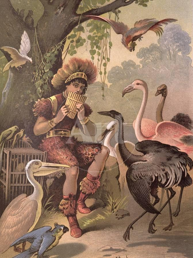 Papageno the Bird-Catcher, from \'The Magic Flute\' by Wolfgang ...