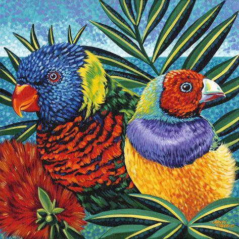 Birds in Paradise II Kunstdruck