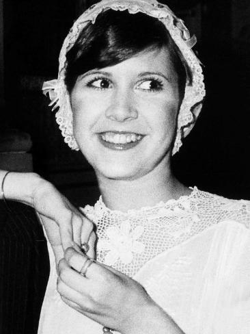 Carrie Fisher American Actress 1974 Fotografie-Druck