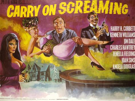 Carry on Screaming Kunstdruck