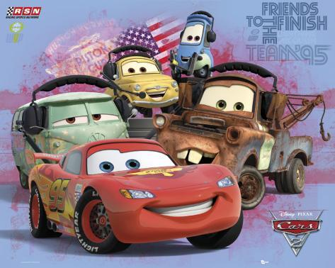 Cars 2 - Gruppe Mini-Poster