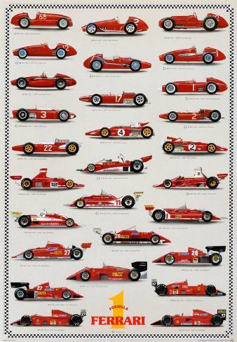 Cars Ferrari Formula I Poster