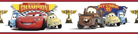 Cars - Piston Cup Champion Peel & Stick Border Wall Decal Wandtattoo