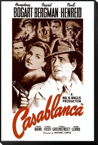 Casablanca Gerahmter, auf Holz aufgezogener Druck