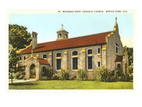 Catholic Church Winter Park Florida Poster Bei