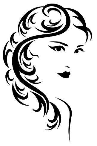 Hair Style Design Kunstdruck