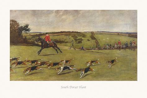 South Dorset Hunt Giclée-Premiumdruck