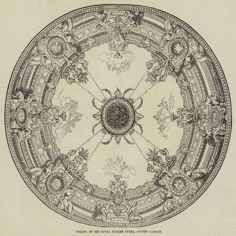 Ceiling of the Royal Italian Opera, Covent Garden Giclée-Druck