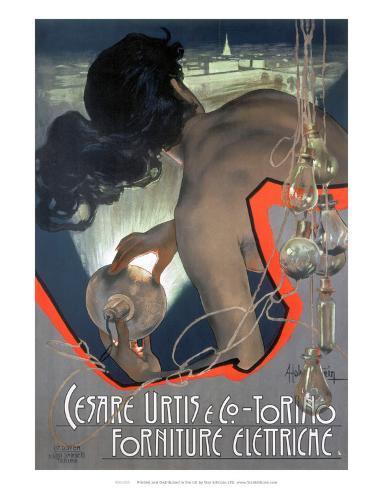 Cesare Urtis & Co, Torino, Forniture Elettriche, Italian, c.1900 Kunstdruck