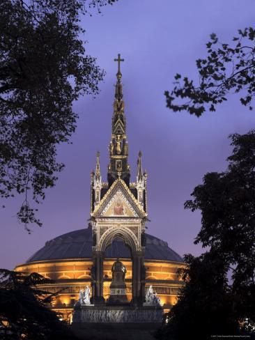 Albert Memorial and the Royal Albert Hall, London, England, United Kingdom Fotografie-Druck