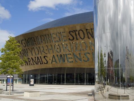 Millennium Centre, Cardiff, Wales (Cymru), United Kingdom Fotografie-Druck
