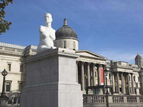 Statue of Alison Lapper, Trafalgar Square, London, England, United Kingdom Fotografie-Druck