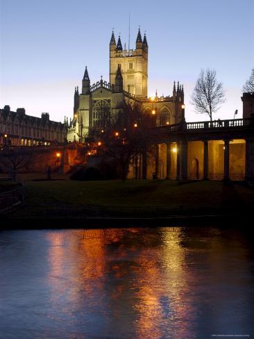The Abbey, Bath, Unesco World Heritage Site, Somerset, England, United Kingdom Fotografie-Druck