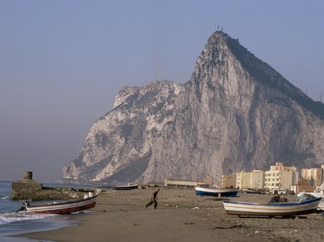 The Rock of Gibraltar, Mediterranean Fotografie-Druck