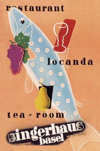 Singerhaus Basel Restaurant Locanda Tea Room Wandtattoo Von