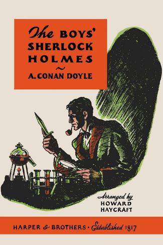 Boys' Sherlock Holmes Wandtattoo