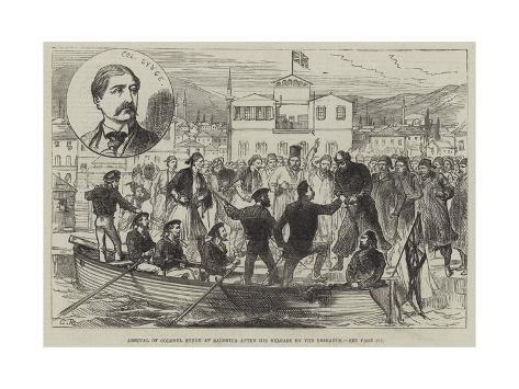 Arrival of Colonel Synge at Salonica after His Release by the Brigands Giclée-Druck