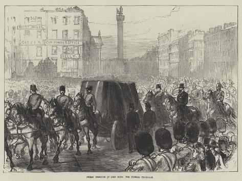 Dublin Obsequies of Lord Mayo, the Funeral Procession Giclée-Druck