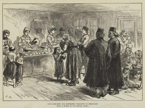 Soup Kitchen for Homeless Peasants at Belgrade Giclée-Druck